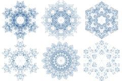 делает по образцу снежинку Стоковое Изображение