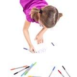 делать девушки чертежей Стоковые Фото