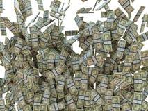 Делать дело: пуки изолированных долларов США Стоковое Фото