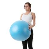делать детенышей женщины пригодности тренировки счастливых Стоковое Изображение RF