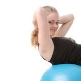 делать детенышей женщины пригодности тренировки счастливых Стоковая Фотография RF
