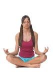 делать детенышей йоги женщины Стоковое Изображение
