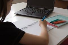 делать домашнюю работу Стоковая Фотография