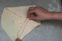 Делать домодельного европейского или русского традиционного пирога сыра или другого вида закуски или помадок печенья на подносе з Стоковая Фотография RF