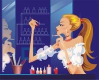 делать ее женщину manicure иллюстрации Стоковые Фотографии RF