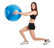 делать женщину lunge пригодности тренировки Стоковое Изображение