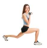 делать женщину lunge пригодности тренировки Стоковое фото RF