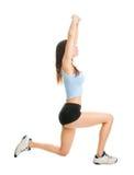 делать женщину lunge пригодности тренировки Стоковая Фотография RF