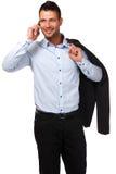 делать звонока бизнесмена красивый Стоковое Фото