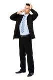 делать звонока бизнесмена Стоковое фото RF