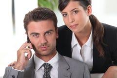 делать звонока бизнесмена Стоковая Фотография RF