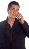 делать звонока бизнесмена Стоковые Изображения RF