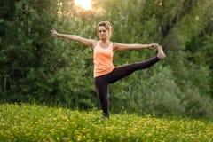 делать йогу девушки стоковые изображения rf