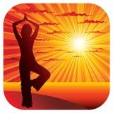 делать йогу женщины гимнастики Стоковая Фотография
