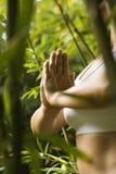 делать йогу женщины Стоковые Фотографии RF