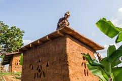 Делать крыши дома грязи Стоковая Фотография