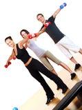 делать людей группы пригодности тренировок Стоковое Изображение RF