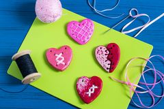 Делать сувениры от посоленного теста на день ` s валентинки Раздел 11 Стоковые Фотографии RF