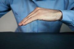 Делать человека защищает жест Стоковые Изображения
