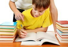 делать школьника домашней работы Стоковые Фото