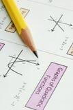 делающ математику ранга обучьте некоторое Стоковая Фотография RF