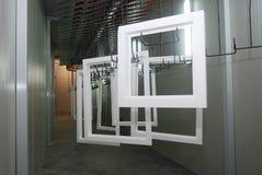делающ окна деревянной Стоковые Фото