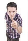 делающ человеком положительный знак Стоковые Изображения RF