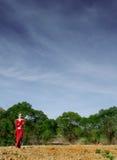 дела женщина outdoors Стоковые Изображения RF