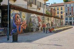 Делить настенной росписи и велосипеда Стоковая Фотография RF