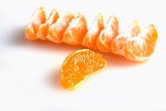 делит на сегменты tangerine Стоковое фото RF