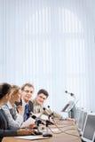 деловая беседа Стоковая Фотография