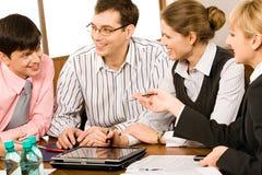 деловая беседа Стоковые Фотографии RF