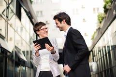 деловая встреча outdoors Стоковые Фотографии RF
