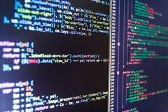 Деловая компания ИТ Хакер пробивая брешь сетчатая безопасность Код вебсайта программируя Стоковое Изображение