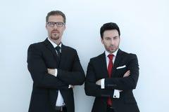 2 делового партнера стоя совместно Стоковые Фотографии RF