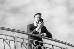 Деловое сообщество, новая технология, sms Стоковая Фотография RF