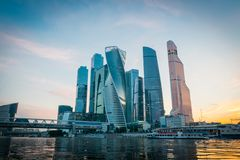 Деловый центр Москвы международный в Москве, России стоковое фото