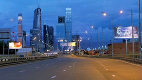 Деловый центр Москвы международный стоковое фото rf