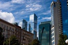 ДЕЛОВЫЙ ЦЕНТР MOSCOW-CITY Стоковое фото RF