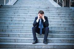 Дело в тревоге после банкротства и отказа стоковое изображение rf