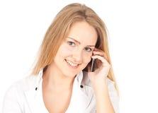 дело делая детенышей женщины телефона Стоковое Изображение RF