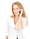 дело делая детенышей женщины телефона Стоковые Изображения RF