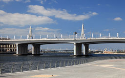 дело Дубай моста залива стоковые изображения rf
