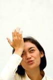 дело забывает женщину сожаления Стоковая Фотография RF