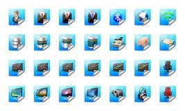 дело застегивает сеть икон Стоковые Изображения RF