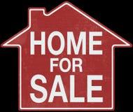 Дело знака недвижимости домашнее Стоковые Изображения RF