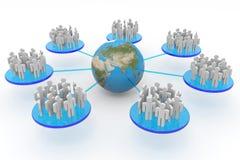 Дело или социальная сеть. Принципиальная схема. Стоковое Изображение RF