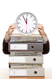 дело имеет женщину времени давления офиса Стоковое Изображение