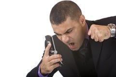 дело имеет stess мобильного телефона Стоковые Фотографии RF
