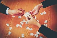 Дело и встречи и единство работы Работать эффектно teamwo стоковое изображение